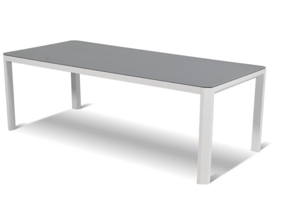 Hartman│Cannes hev senk bord Hvit aluminium HPL topp