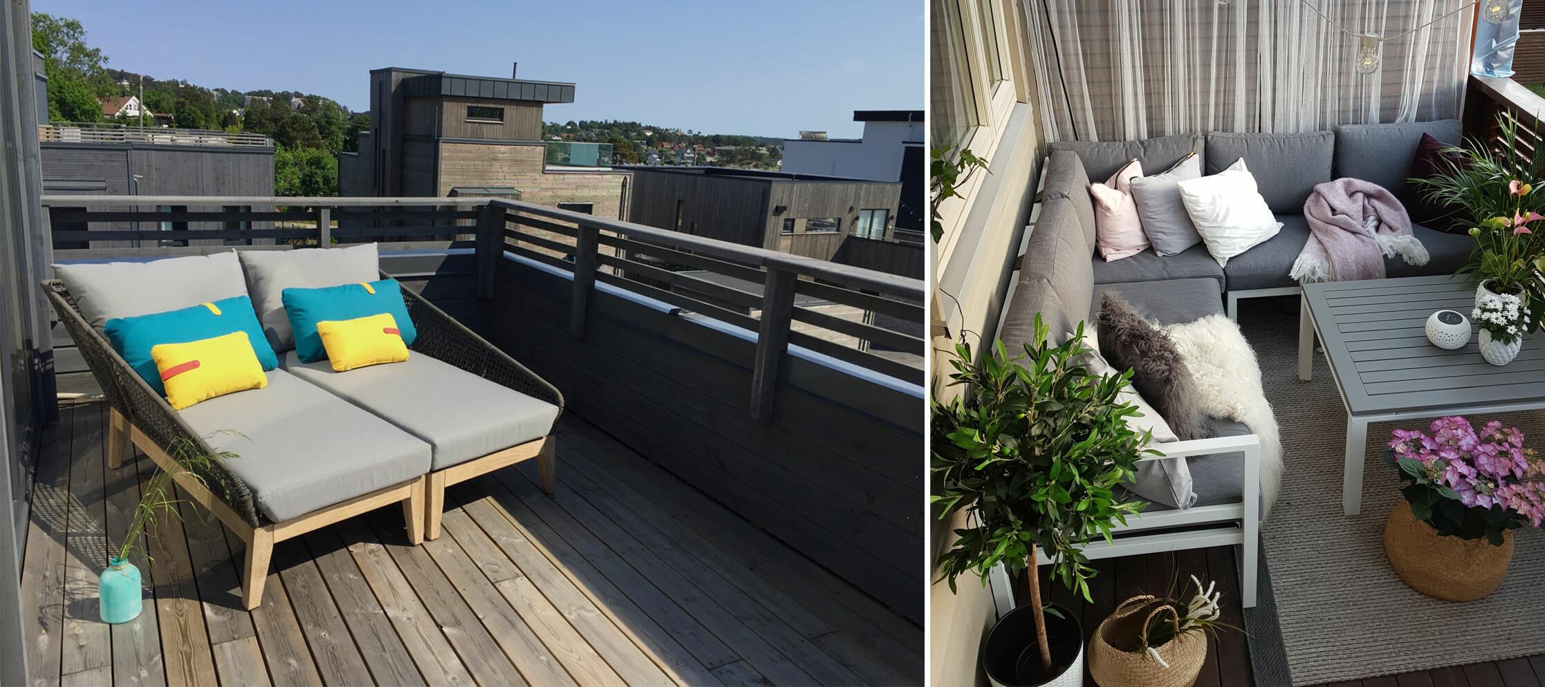 Alvorlig Slik innreder du en liten terrasse - eller balkong | Oakland Møbler VB-86