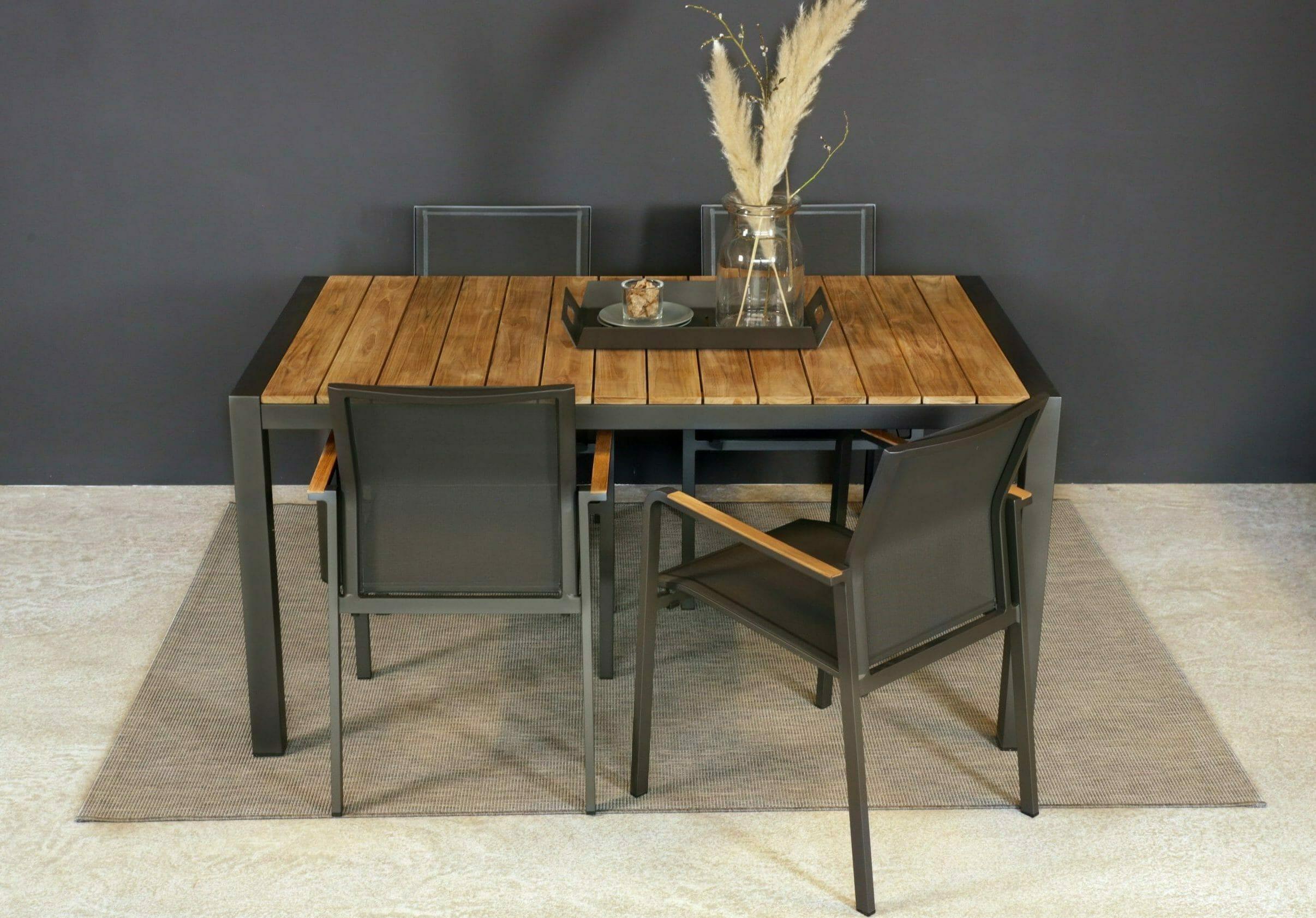 21582 Duke spisebord sort 160 cm miljø ovenfra