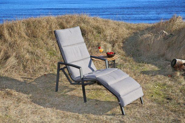 hvilestol i aluminium til hagen