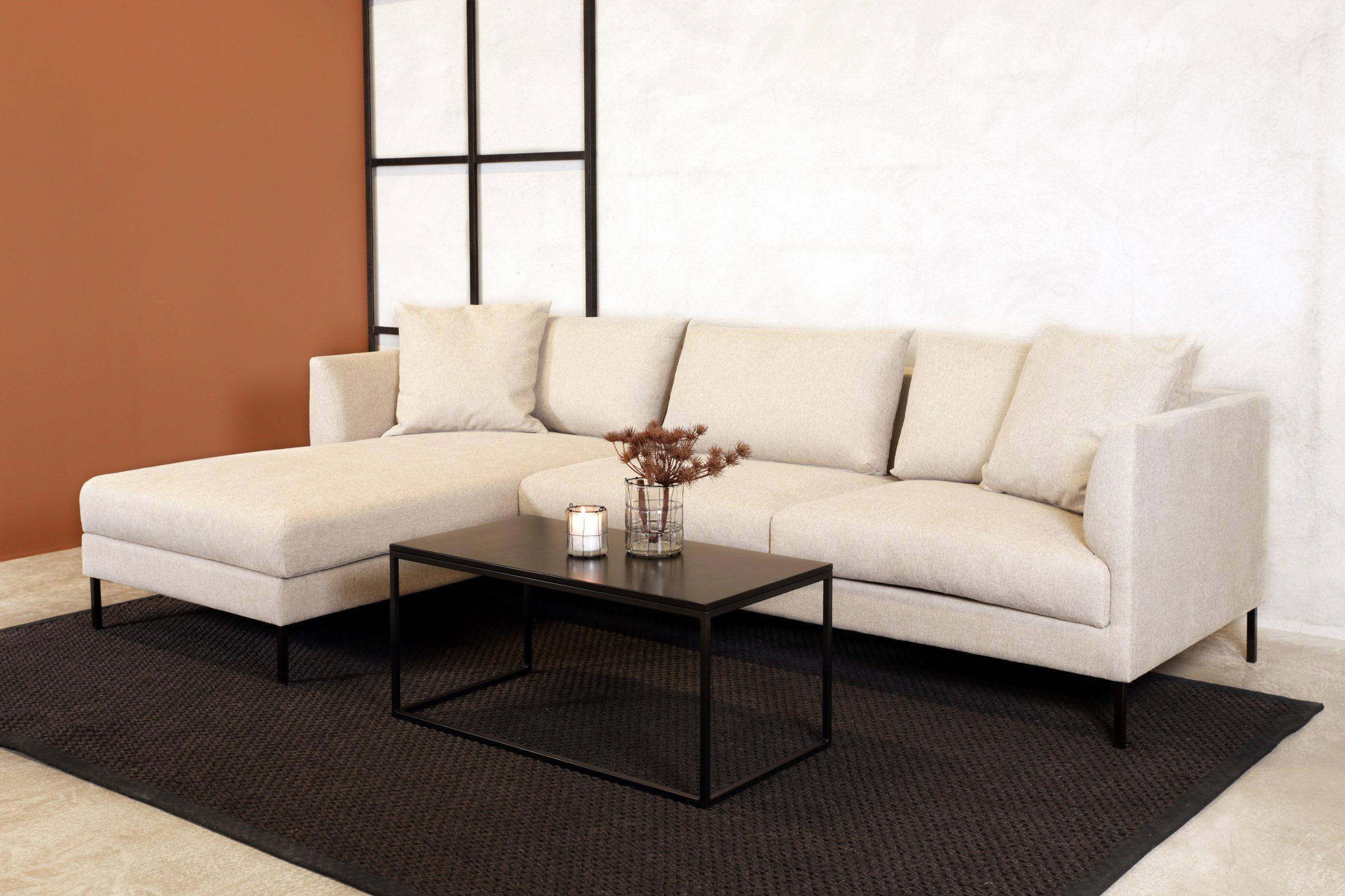 oskar sofa 3 seter natur m sjeslong venstre side