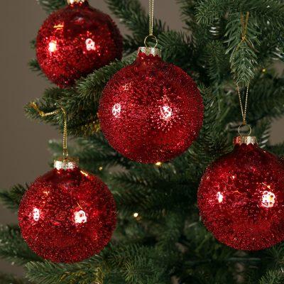 Røde juletrekuler