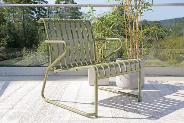Grønn Park hagestol i aluminium