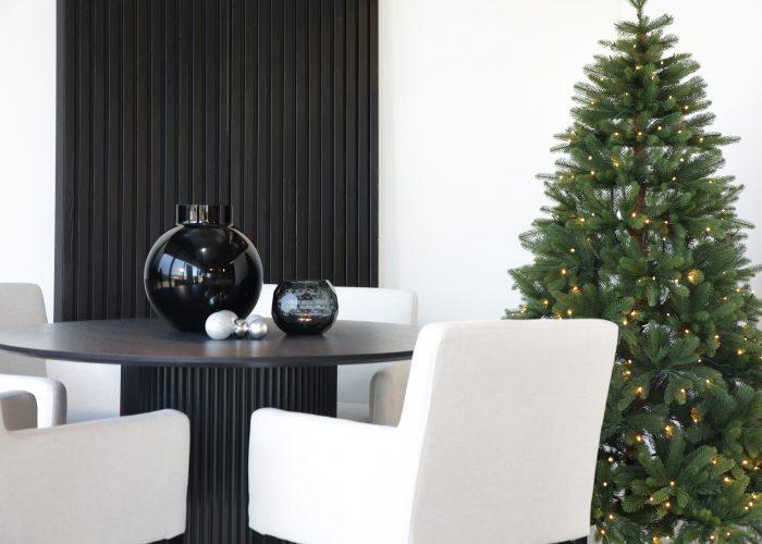 Kunstig juletre med lys Vidda stubben miljøbilde